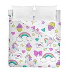Cute Unicorn Pattern Duvet Cover Double Side (full/ Double Size) by Valentinaart