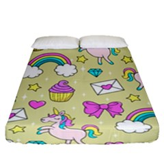 Cute Unicorn Pattern Fitted Sheet (queen Size)