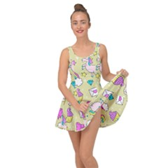 Cute Unicorn Pattern Inside Out Dress