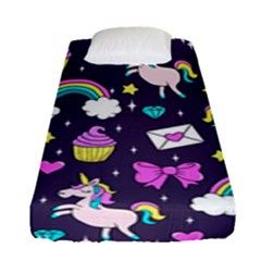 Cute Unicorn Pattern Fitted Sheet (single Size)