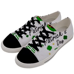 St Patricks Leprechaun Men s Low Top Canvas Sneakers by Valentinaart