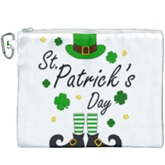 St Patricks Leprechaun Canvas Cosmetic Bag (xxxl) by Valentinaart