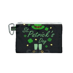 St Patricks Leprechaun Canvas Cosmetic Bag (small) by Valentinaart
