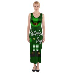 St Patricks Leprechaun Fitted Maxi Dress