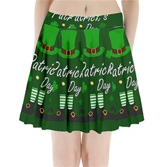 St Patricks Leprechaun Pleated Mini Skirt