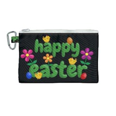 Happy Easter Canvas Cosmetic Bag (medium) by Valentinaart
