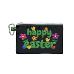 Happy Easter Canvas Cosmetic Bag (small) by Valentinaart