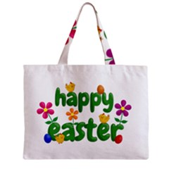 Happy Easter Zipper Mini Tote Bag by Valentinaart