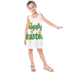 Happy Easter Kids  Sleeveless Dress by Valentinaart