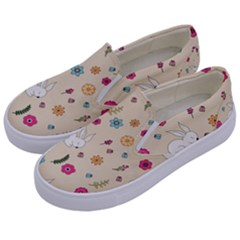 Easter Bunny  Kids  Canvas Slip Ons by Valentinaart