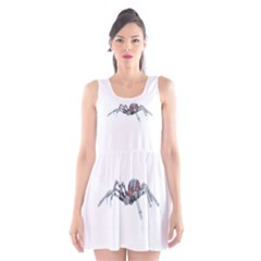 Bionic Spider Cartoon Scoop Neck Skater Dress by ImagineWorld