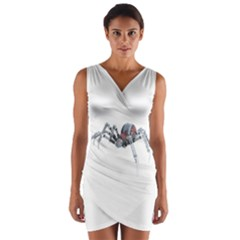 Bionic Spider Cartoon Wrap Front Bodycon Dress by ImagineWorld