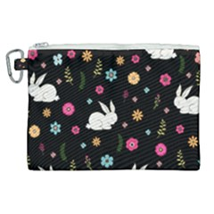 Easter Bunny  Canvas Cosmetic Bag (xl) by Valentinaart