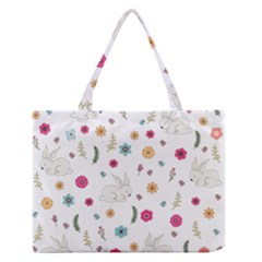 Easter Bunny  Zipper Medium Tote Bag by Valentinaart