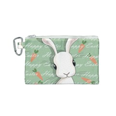 Easter Bunny  Canvas Cosmetic Bag (small)