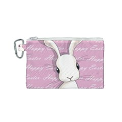 Easter Bunny  Canvas Cosmetic Bag (small) by Valentinaart