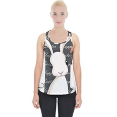 Easter Bunny  Piece Up Tank Top