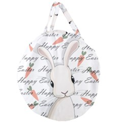 Easter Bunny  Giant Round Zipper Tote