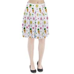 Easter Kawaii Pattern Pleated Skirt