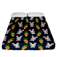Easter Kawaii Pattern Fitted Sheet (california King Size) by Valentinaart