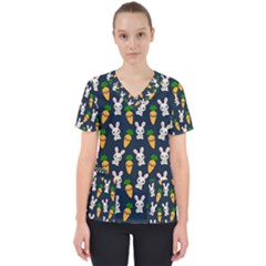 Easter Kawaii Pattern Scrub Top