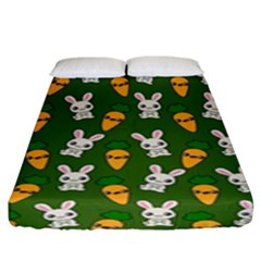 Easter Kawaii Pattern Fitted Sheet (king Size) by Valentinaart