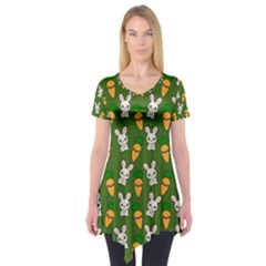 Easter Kawaii Pattern Short Sleeve Tunic