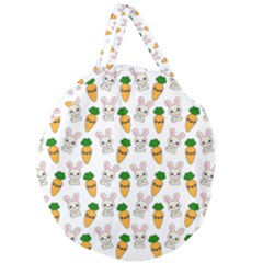Easter Kawaii Pattern Giant Round Zipper Tote