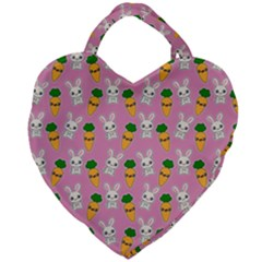 Easter Kawaii Pattern Giant Heart Shaped Tote