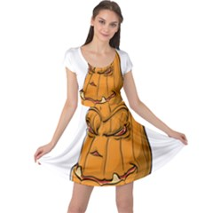 Sleeping Pumpkin Cap Sleeve Dress by ImagineWorld
