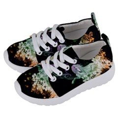 Wonderful Unicorn With Flowers Kids  Lightweight Sports Shoes by FantasyWorld7