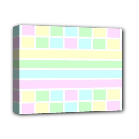 Geometric Pastel Design Baby Pale Deluxe Canvas 14  X 11  by Nexatart