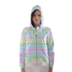 Geometric Pastel Design Baby Pale Hooded Wind Breaker (women)