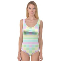 Geometric Pastel Design Baby Pale Princess Tank Leotard  by Nexatart