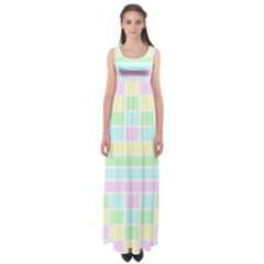 Geometric Pastel Design Baby Pale Empire Waist Maxi Dress