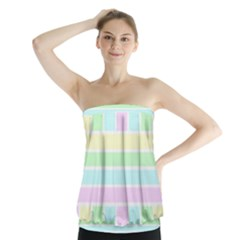 Geometric Pastel Design Baby Pale Strapless Top