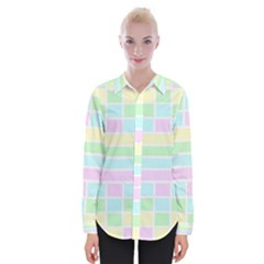 Geometric Pastel Design Baby Pale Womens Long Sleeve Shirt
