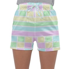 Geometric Pastel Design Baby Pale Sleepwear Shorts