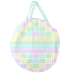 Geometric Pastel Design Baby Pale Giant Round Zipper Tote