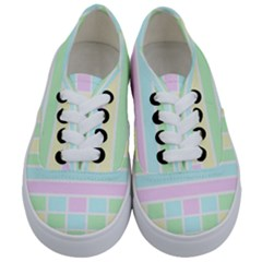 Geometric Pastel Design Baby Pale Kids  Classic Low Top Sneakers