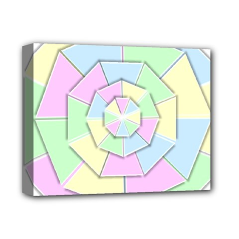 Color Wheel 3d Pastels Pale Pink Deluxe Canvas 14  X 11  by Nexatart