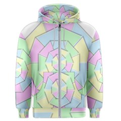 Color Wheel 3d Pastels Pale Pink Men s Zipper Hoodie