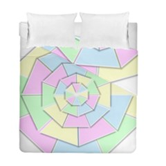 Color Wheel 3d Pastels Pale Pink Duvet Cover Double Side (full/ Double Size)