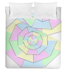 Color Wheel 3d Pastels Pale Pink Duvet Cover Double Side (queen Size)