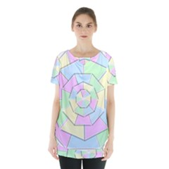 Color Wheel 3d Pastels Pale Pink Skirt Hem Sports Top by Nexatart
