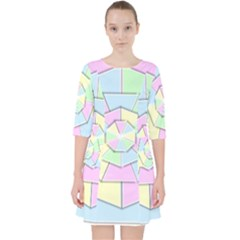 Color Wheel 3d Pastels Pale Pink Pocket Dress