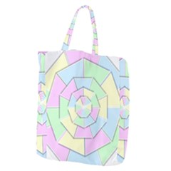Color Wheel 3d Pastels Pale Pink Giant Grocery Zipper Tote