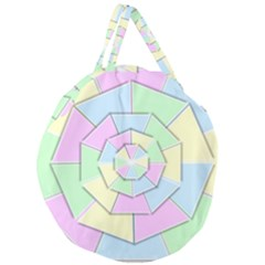 Color Wheel 3d Pastels Pale Pink Giant Round Zipper Tote