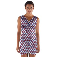 Abstract Chaos Confusion Wrap Front Bodycon Dress