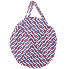 Abstract Chaos Confusion Giant Round Zipper Tote
